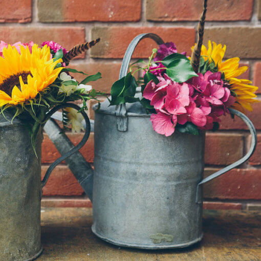 Vintage watering can for hire, can be used to display flowers for weddings - My Vintage Flower UK